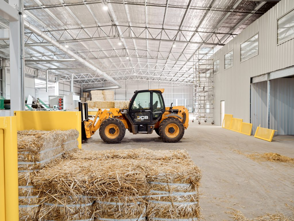 ESG at hay processing facility