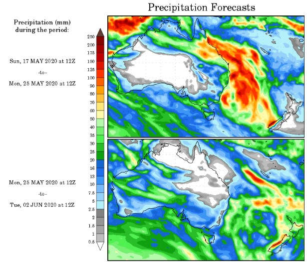 precipitation forecast australia