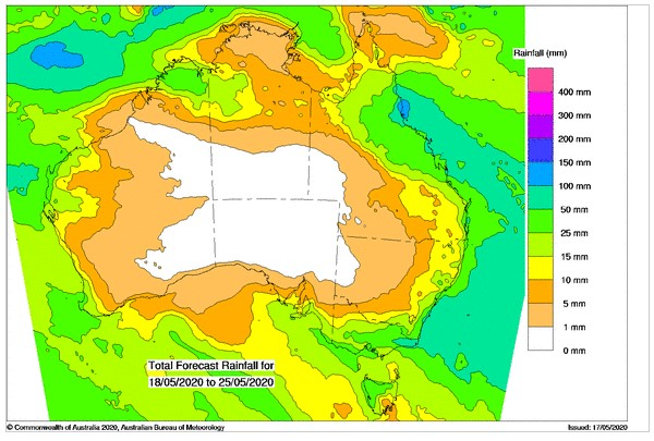 total forecast rainfall australia