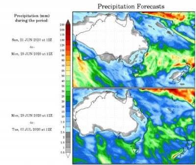 precipitation forecast australia