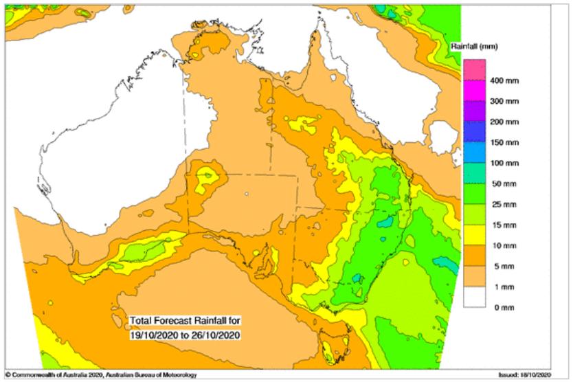 Total Forecast Rainfall -19.10.2020