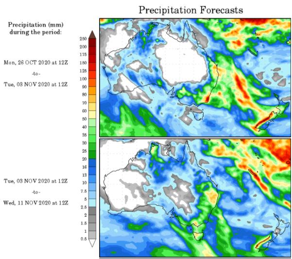 WX Maps Precipitation Outlook - 26.10.2020