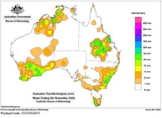 Last Week's Rainfall -9.11.2020