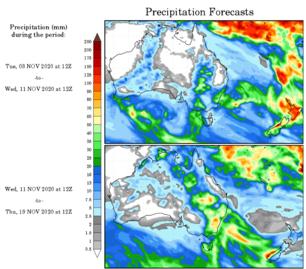 WX Maps Precipitation Outlook - 2.11.2020