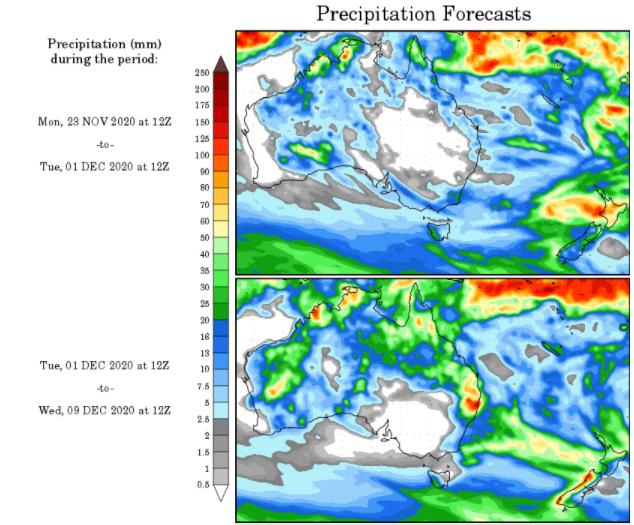 WX Maps Precipitation Outlook - 23.11.2020