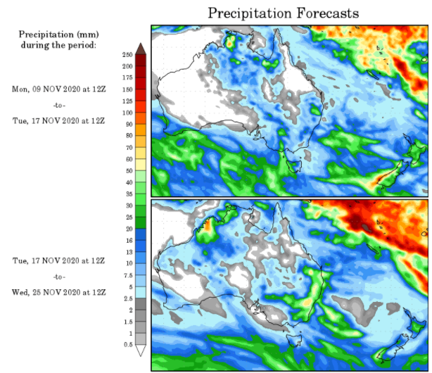 WX Maps Precipitation Outlook - 9.11.2020